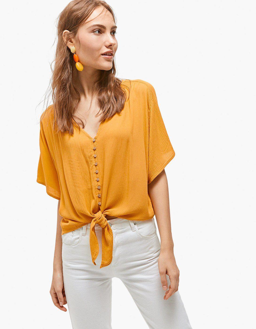 e5464b295 Camisa botones y nudo - Camisas