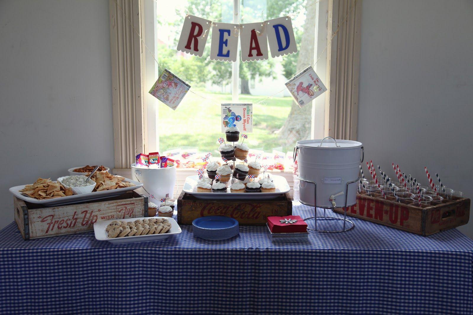 Reading Theme Vintage Schoolhouse School Theme Birthday Party Red