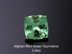 Green Tourmaline from Afghanistan (cut and sold by Spectral Gems, Inc.) 3.45ct
