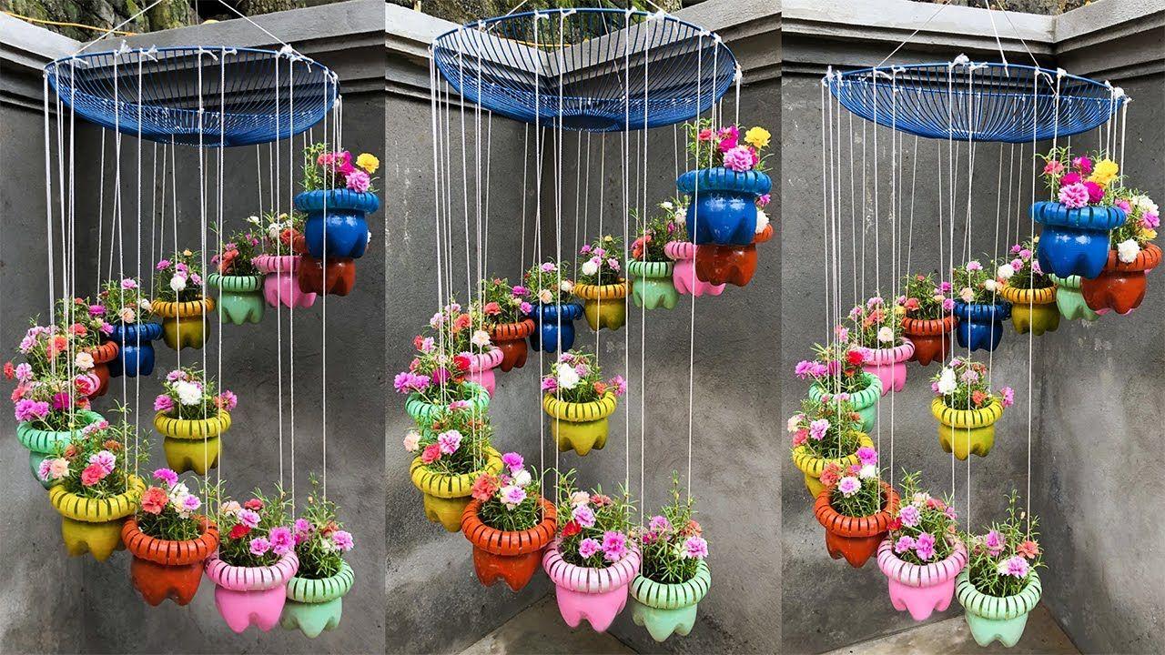 d9380bc9b2e67cb6c4e3f2a67af1e338 - Diy Plastic Bottles Hanging Flower Gardens