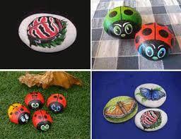 Resultado de imagen para piedras pintadas de animales faciles