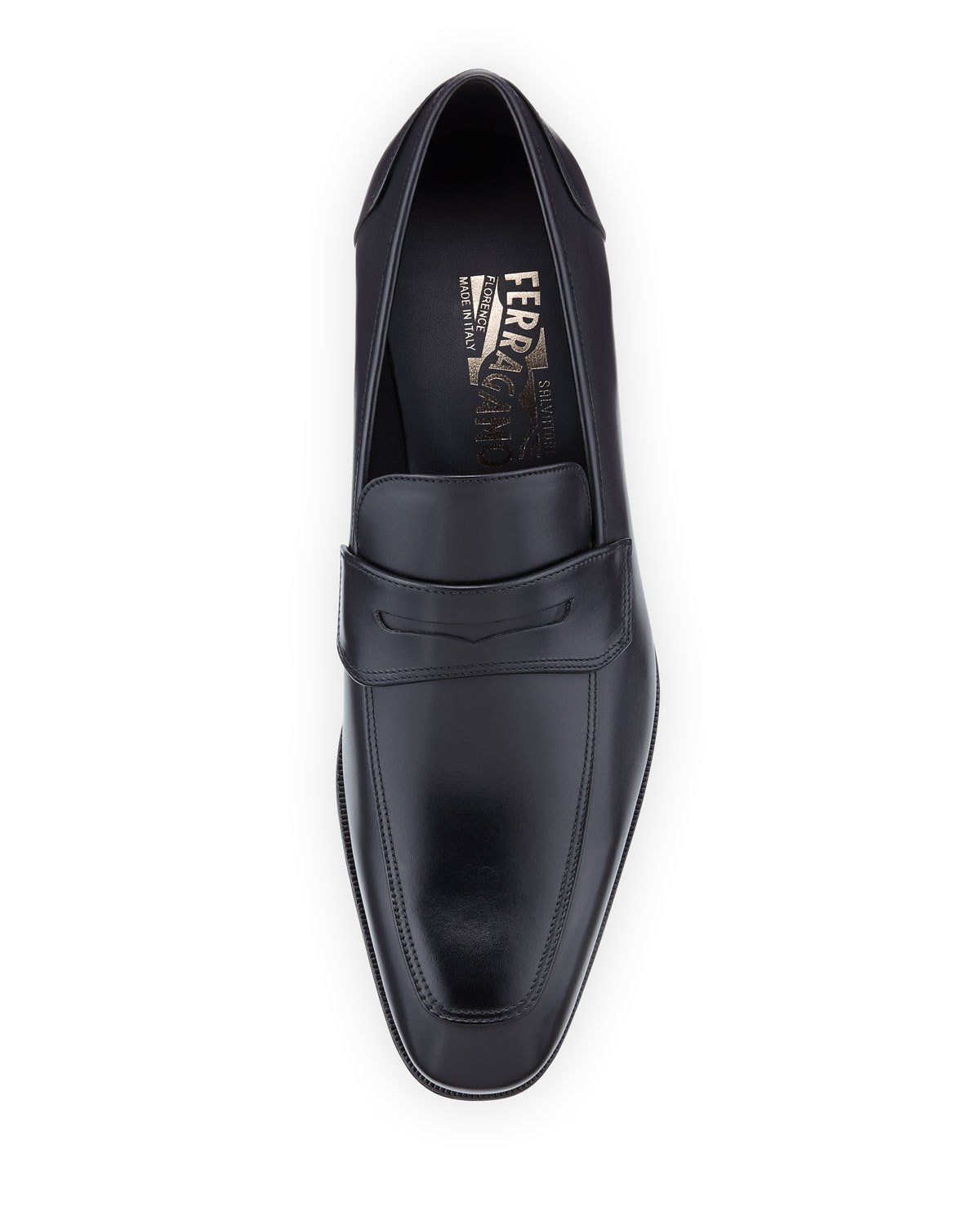 6fb4781d9a5 Salvatore Ferragamo Leather Penny Loafer Penny Loafers