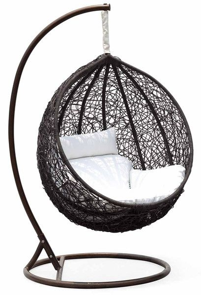 Simple Ceri Synethic Wicker Outdoor Swing Chair – Model CW003BK – Chans Pictures - Model Of standing hammock chair Luxury
