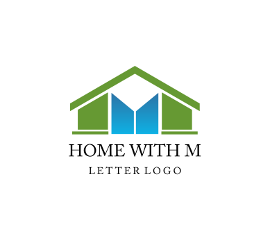 Home Building Construction M Letter Vector Logo Download Vector Logos Pinterest