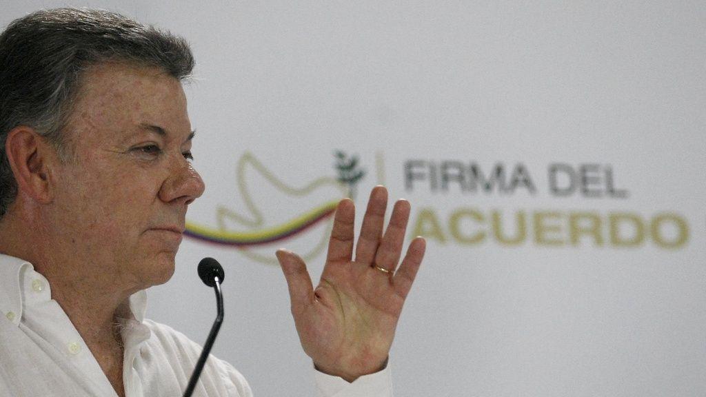Juan Manuel Santos 2. syyskuuta 2016.