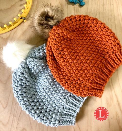 Loom Knit Hat Pattern #loomknitting