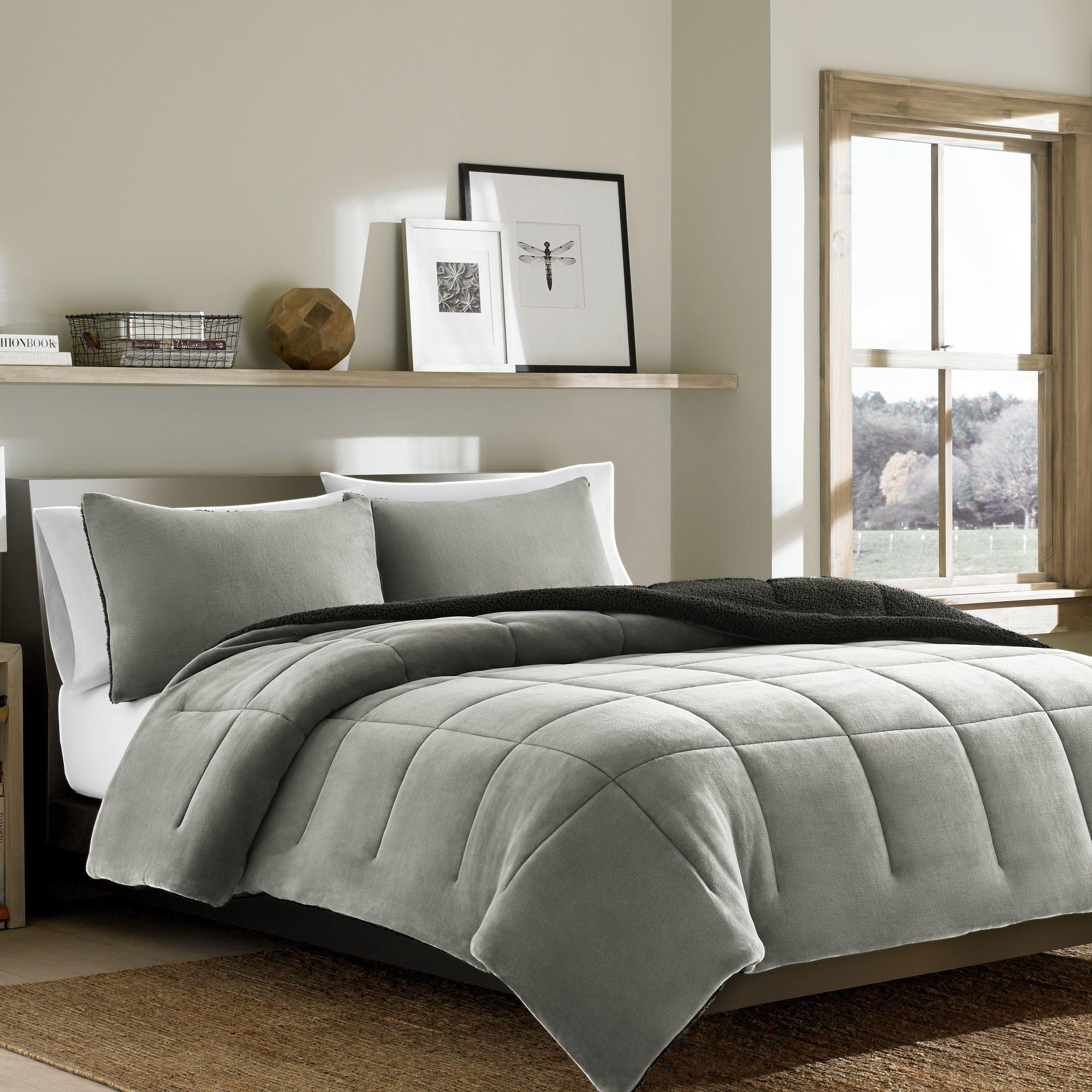 Eddie Bauer Premium Fleece 3 Piece Reversible Comforter Set