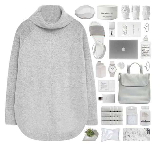 """""""// Hayley"""" by melislookbook ❤ liked on Polyvore featuring MANGO, Christy, ASOS, Topshop, Whistles, Murad, Hermès, Maison Margiela, CB2 and Normal Timepieces"""
