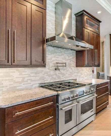 Home Cabinet Westbury S1 Style Java Coffee Maple Kitchen ...