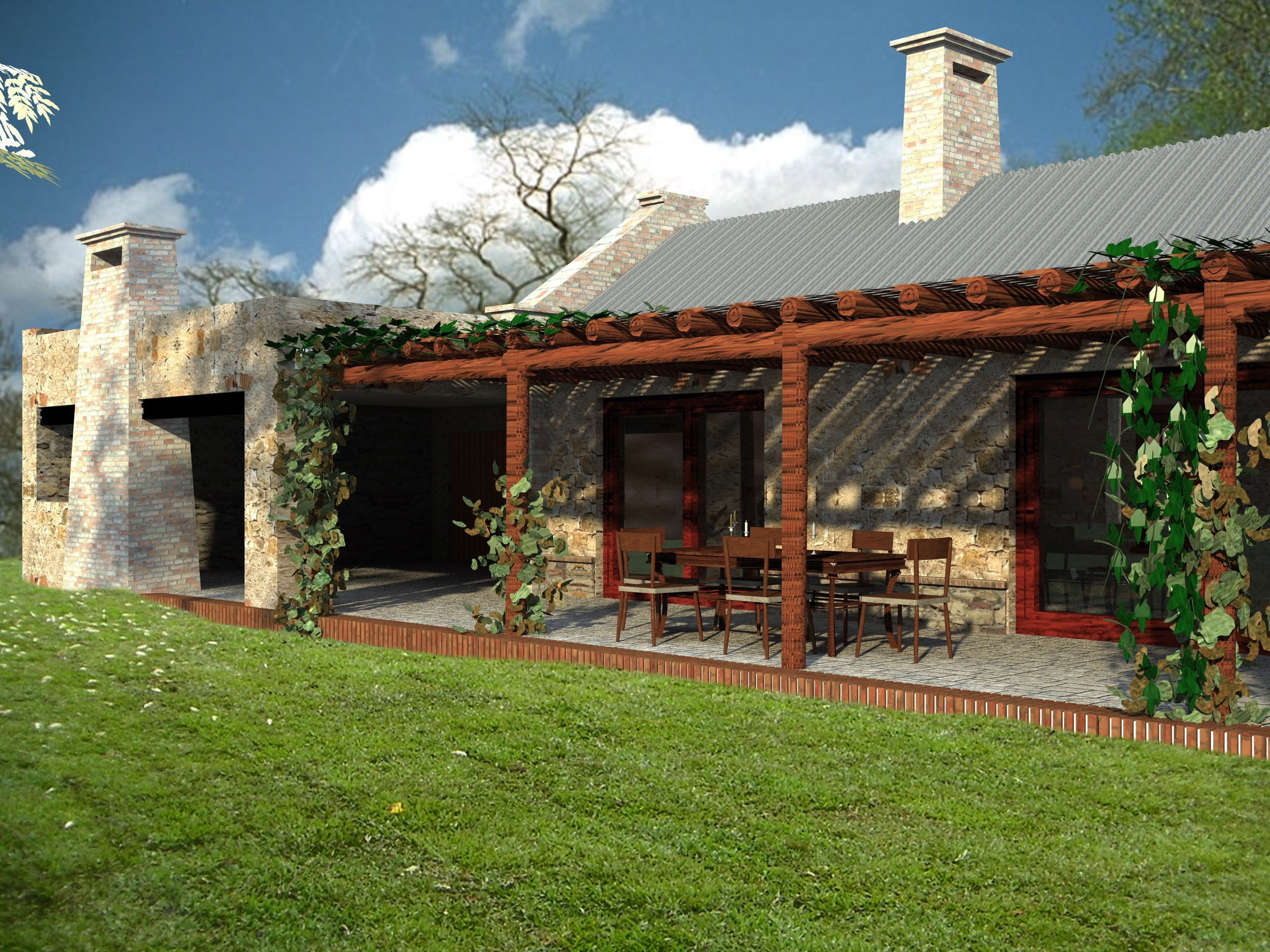 casas estilo campo argentino Buscar con Google Casas