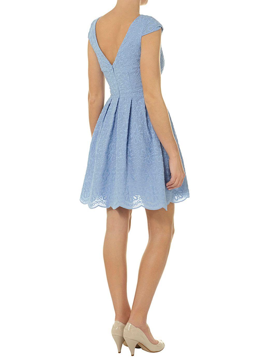 Blaues Ballkleid mit Lochstickereien - Alle anzeigen - Kleider ...