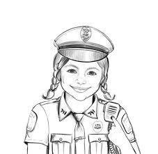 Police Officer Coloring Pages Respect Authority Patch Police