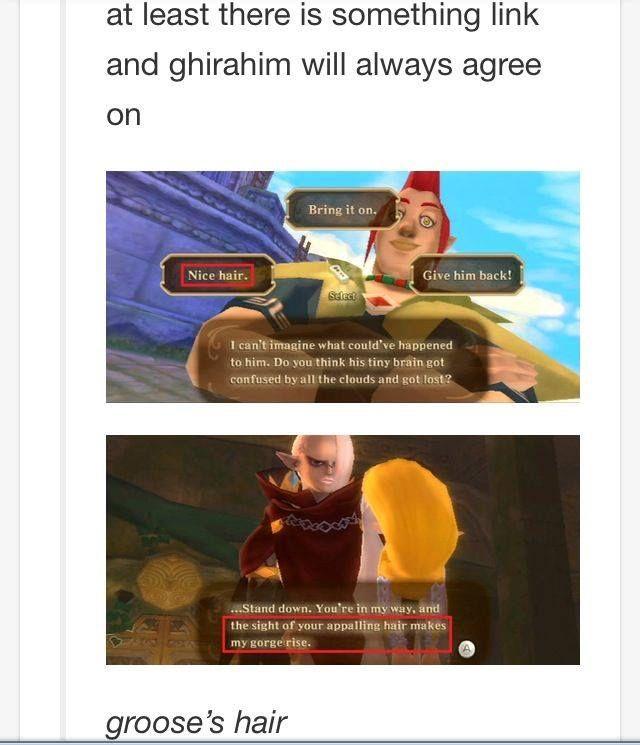 Should Link and Zelda ...