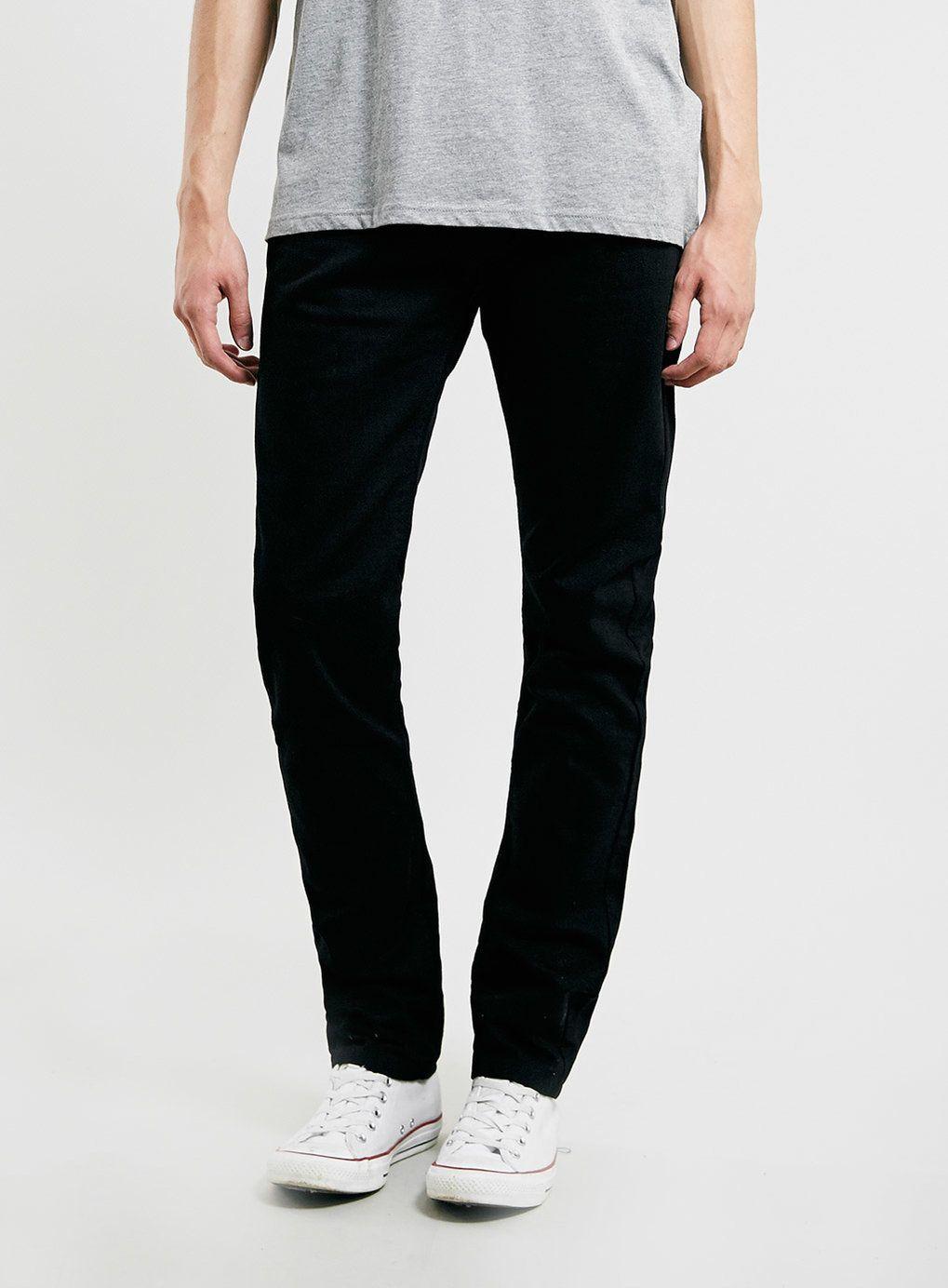 Black vintage slim fit jeans mens slim tapered jeans