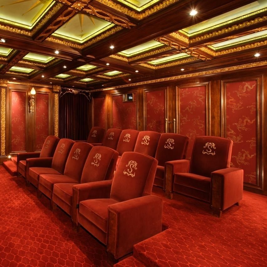 Home Theater Interiors Small Home Theater Room Design: Luxurious Home Theater By Cravotta Interiors