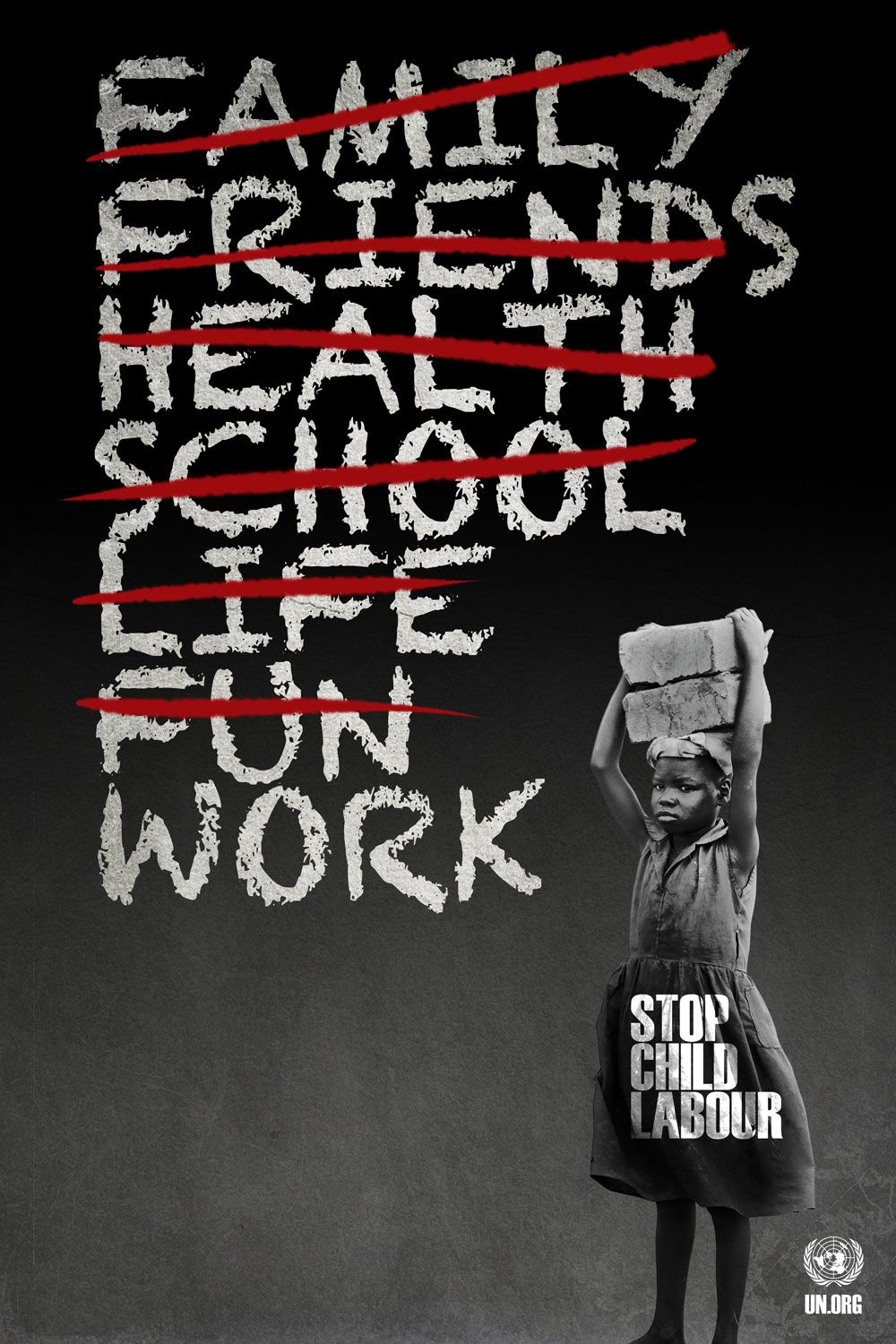 world day against child labour child labour words and labor for this project i had to tackle the difficult subject of child labor the posters below are self explanatory i m especially proud of the first one
