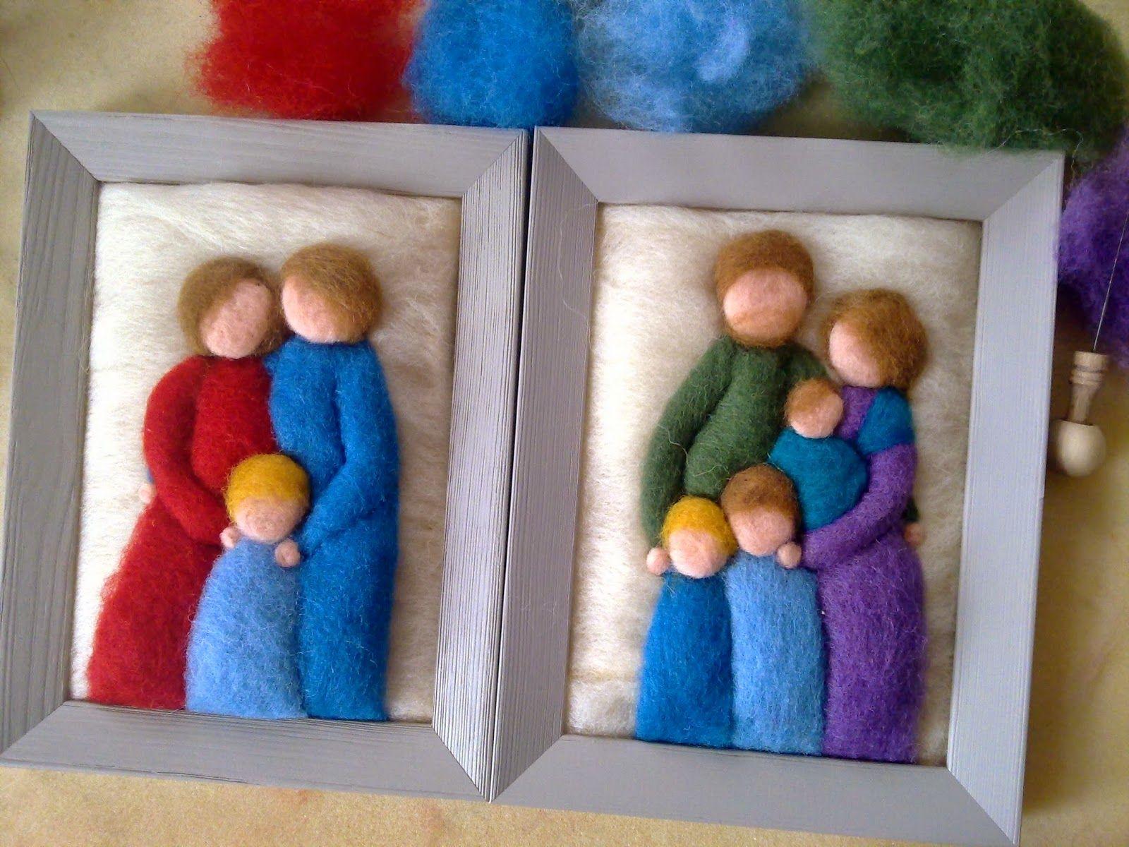 LEBEN LIEBEN MACHEN: Wollbilder und Familienportraits | FELTING COOL ...