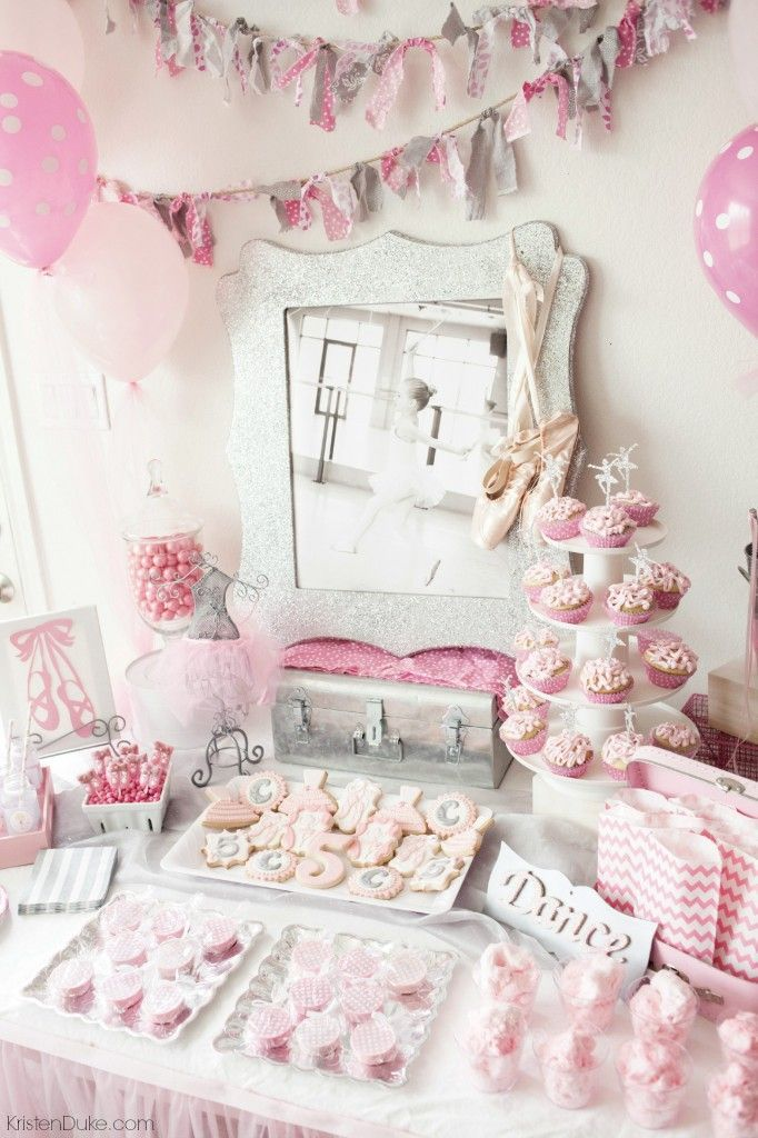 Ballerina Birthday Party - ideas for decor, entertainment, food, and games by http://KristenDuke.com