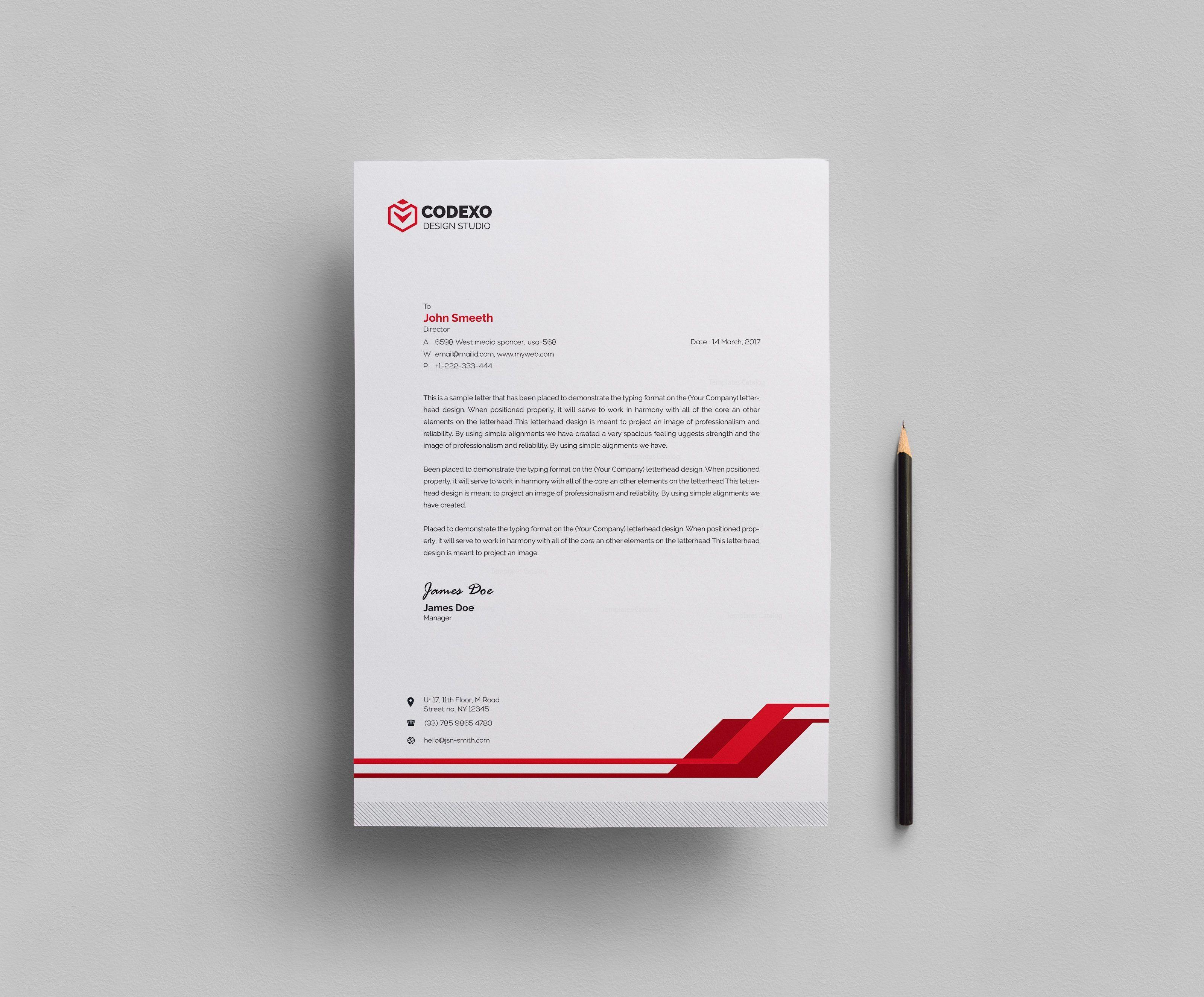 Simple Corporate Letterhead Template 000409 Template Catalog Company Letterhead Template Letterhead Design Letterhead Template