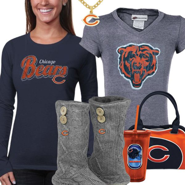 new arrivals 3ef7f b9cb6 Cute Chicago Bears Fan Gear | Chicago Bears Fashion, Style ...