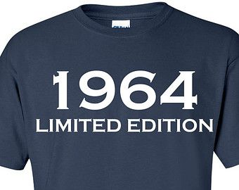 1964 Limited Edition 50th Birthday Party Shirt Trendy Tee Hipster Vintage Tshirt Funny Gift B 186