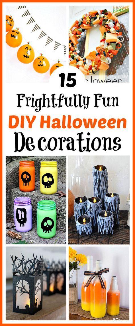 15 Frightfully Fun DIY Halloween Decorations Halloween Stuff