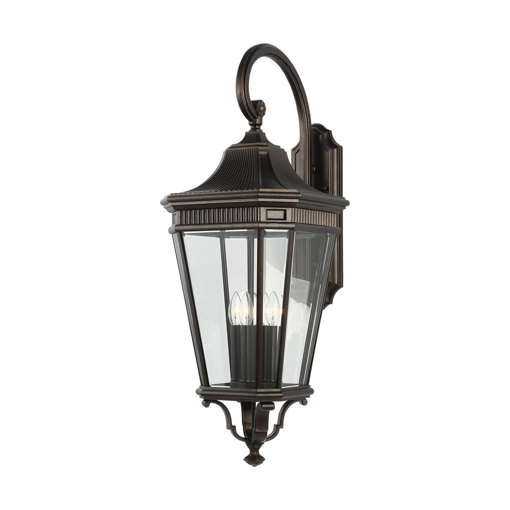 Feiss Cotswold Lane Extra Large 4 Light Grecian Bronze Outdoor