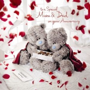 Me To You Tatty Teddy Mum And Dad Anniversary Card Tatty Teddy Teddy Teddy Bear Pictures