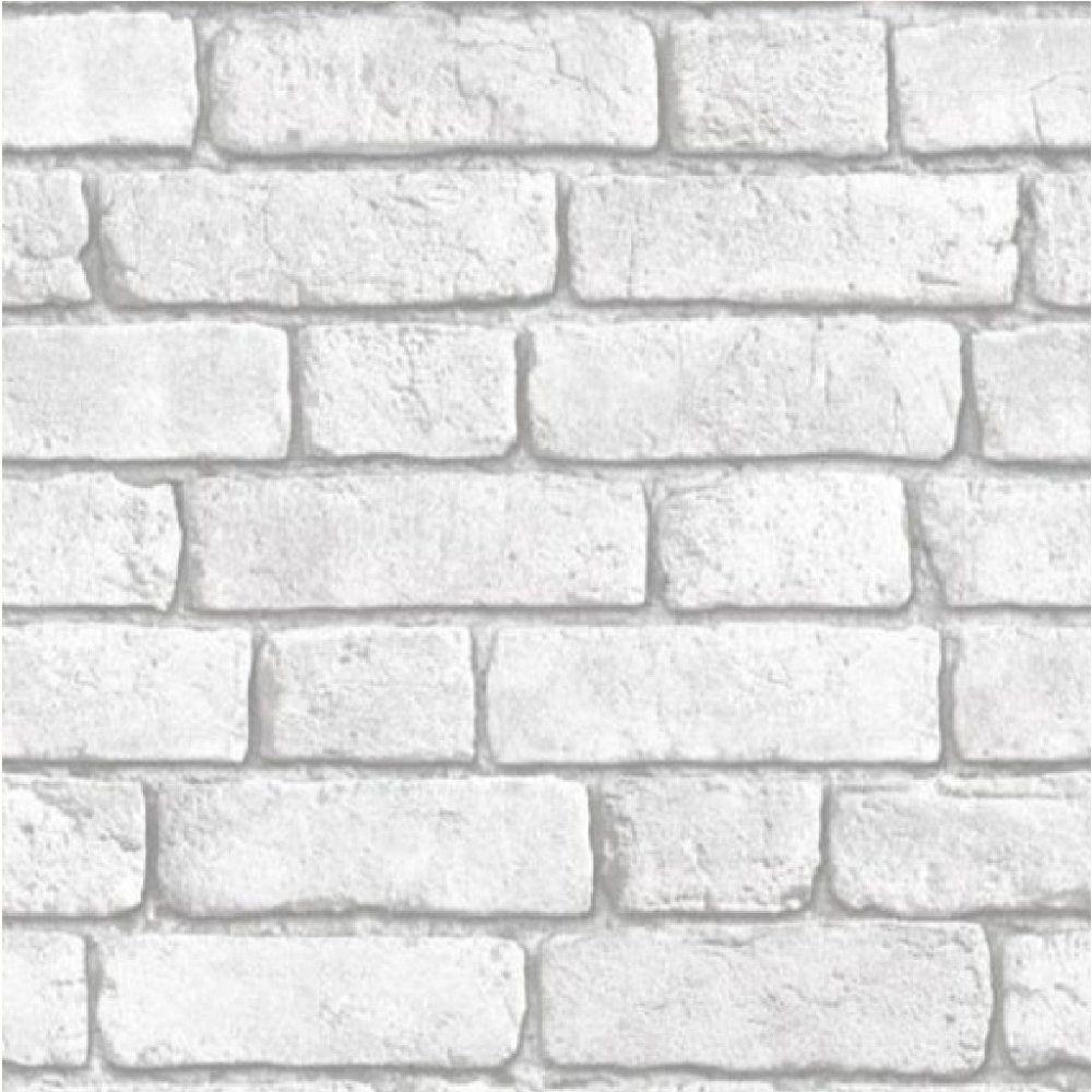 Muriva bluff embossed brick effect wallpaper j30309 for White wallpaper for walls