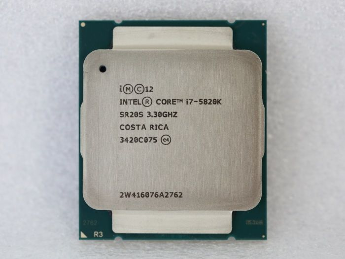This is the Core i7 5820K processor. I really want this processor for my next build. Why I don't just get the 5930K or the 5960X? Well... it's pretty obvious the reason is the price. And 5820K has all I need technology wise and it has 6-cores too so it will help me when I do some content creation and gaming.