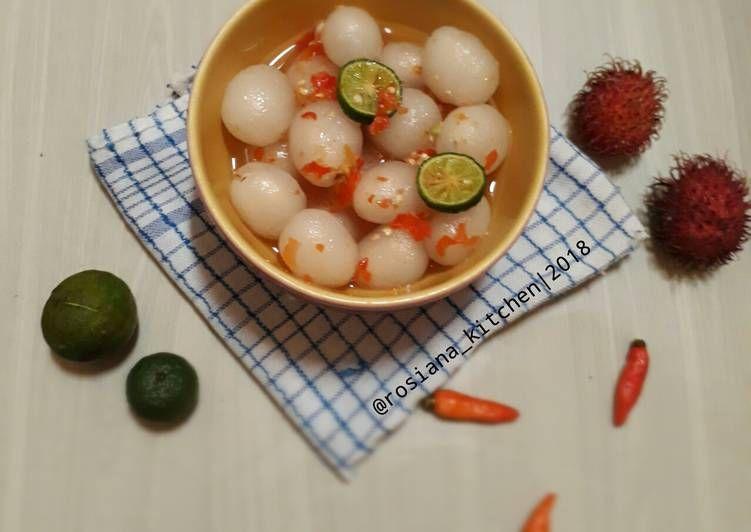 Resep Asinan Rambutan Pedas Manis Asem Oleh Rosiana Kitchen Resep