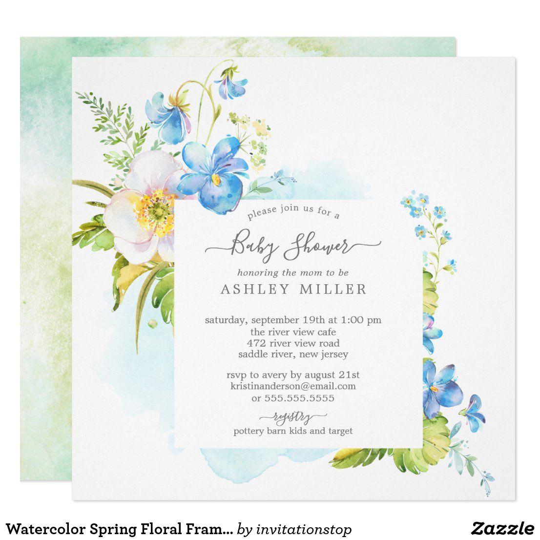 Baby brunch greenery gender neutral baby shower invitation