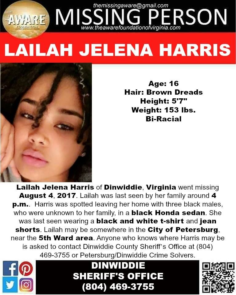 Find Missing Lailah Jelena Harris! Missing Persons Please Find - missing poster generator