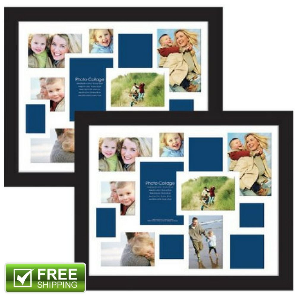 13-Opening Collage Photo Picture Frame Vertical Horizontal Black ...