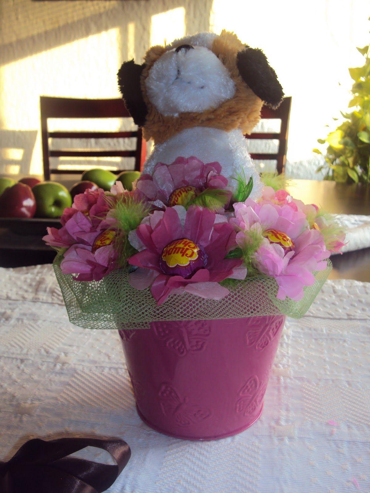 Desde Mi Jardin: flores con paletas de dulce(by Livito)