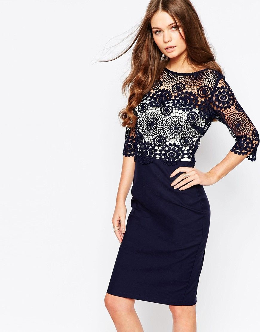 Paper Dolls High Neck Lace Dress with Pencil Skirt | Outfits I ...