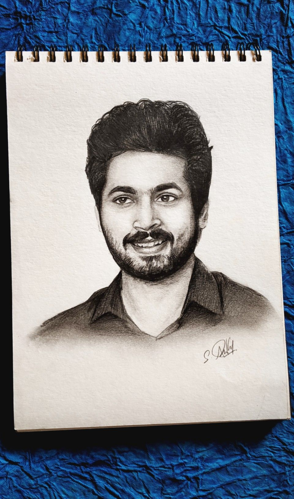 Harish kalyan pencil sketch done by arun shivam