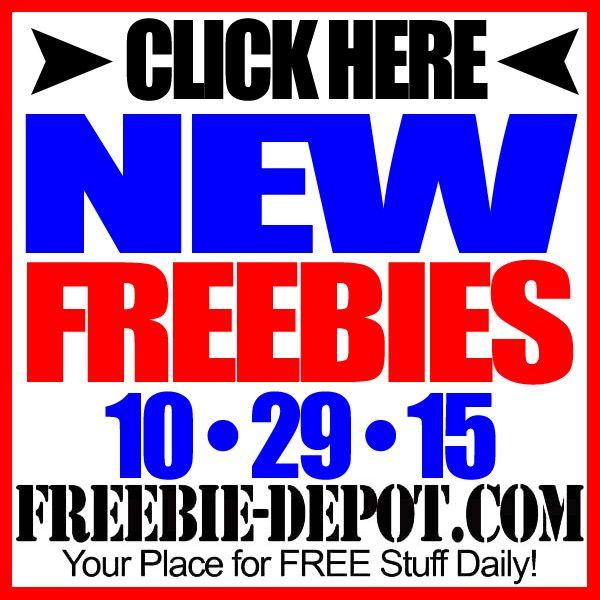 ►► NEW FREEBIE HOTLIST – FREE Stuff for October 29, 2015 ►► #Free, #FREEStuff, #Freebie, #HOTLIST ►► Freebie-Depot