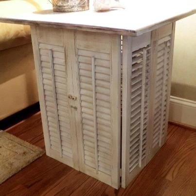 *Savvy Salvage Sisters My New Side Table With A Hidden Light Underneath.  Love It