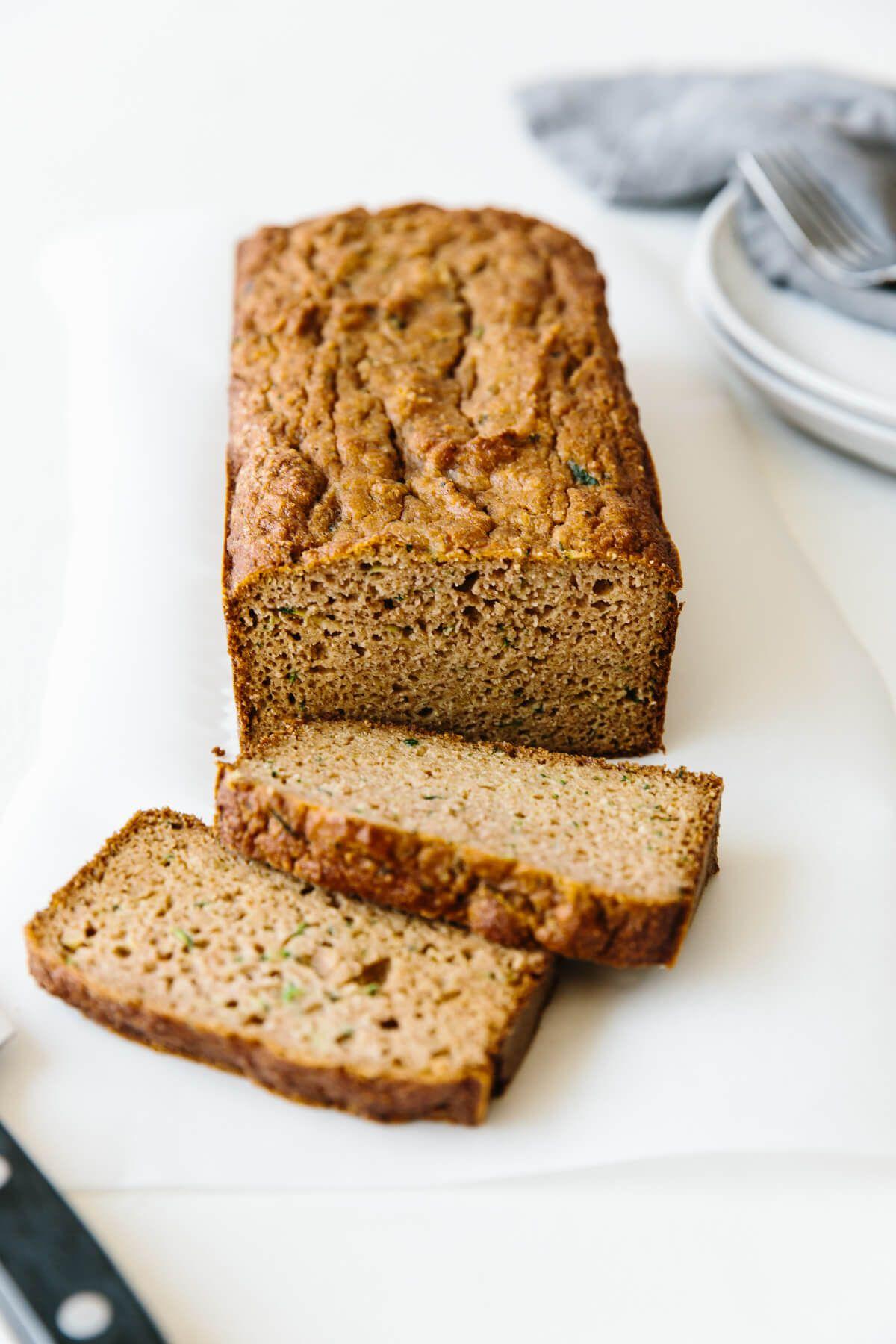 Paleo Zucchini Bread Gluten Free Dairy Free Downshiftology In 2020 Paleo Zucchini Bread Paleo Baking Paleo Zucchini
