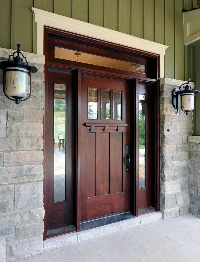Craftsman Style Front Door.