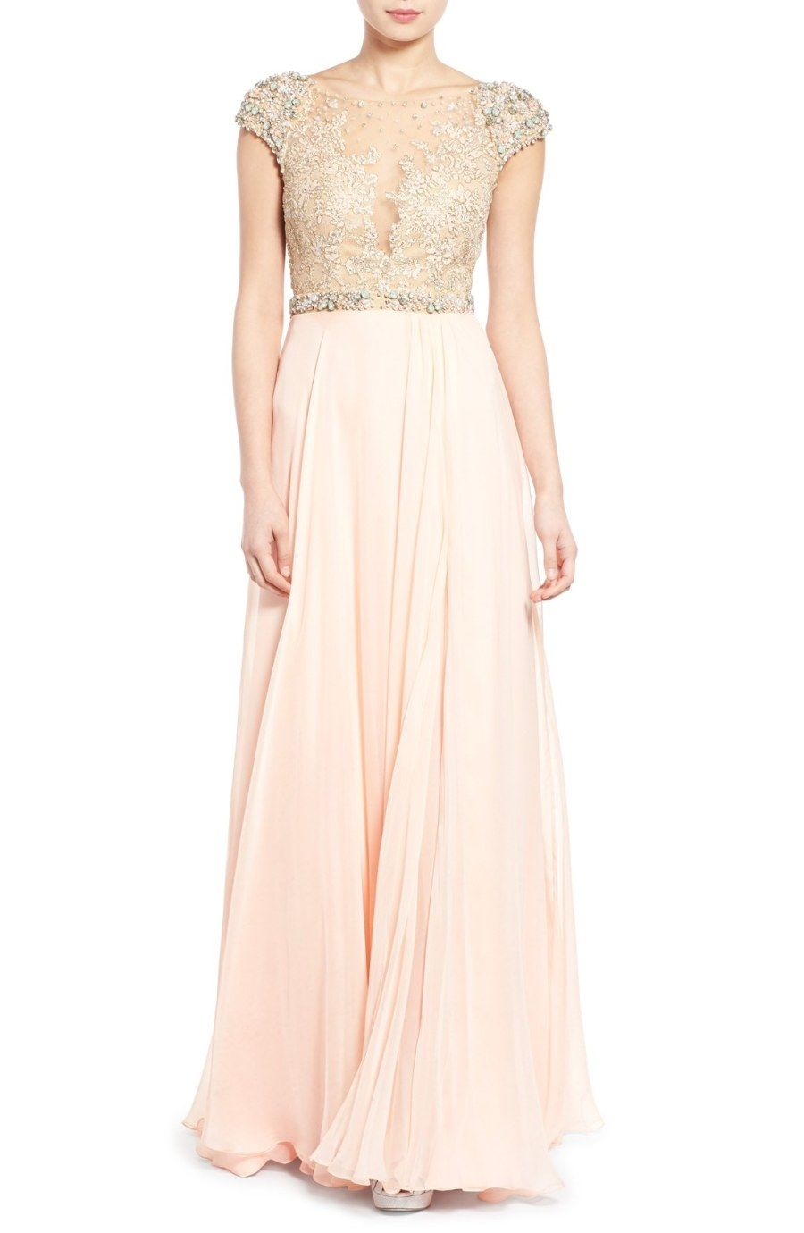 Get the Look: Taylor Swift\'s Blush + Gold Reem Acra Maid of Honor ...