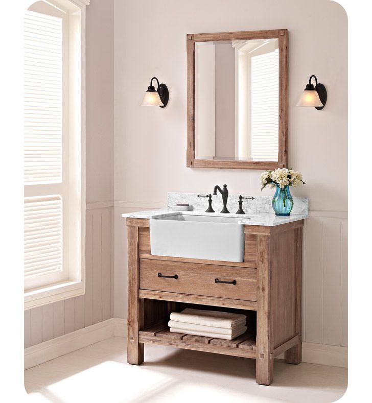 Fairmont Designs 1507 Fv36 Napa 36 Farmhouse Vanity In Sonoma Sand Farmhouse Vanity Bathroom Vanity Designs Farmhouse Bathroom Vanity