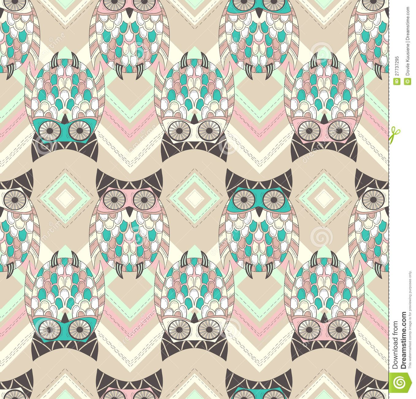 Native canadian pattern google sgning owls pinterest seamless and tileable vector owl background pattern stock vector image 37968220 voltagebd Image collections