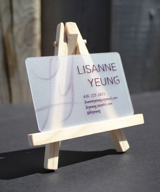 Clear Frosted Plastic Cards | Business Cards | Pinterest | Plastic ...