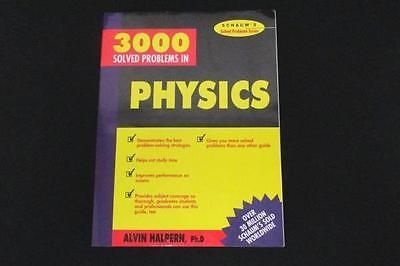 Schaum S 3000 Solved Problems In Physics By Alvin Halpern Phd Sc Book 1988 Problem Solving Physics Solving