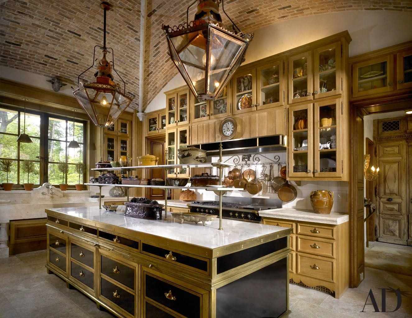 european kitchen inside robin buxbaum's lake forest, il