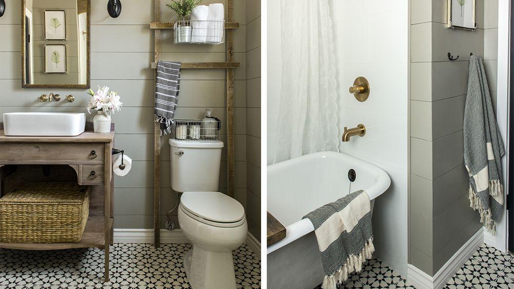 Avant / Après  La salle de bains prend des allures néo-rustiques