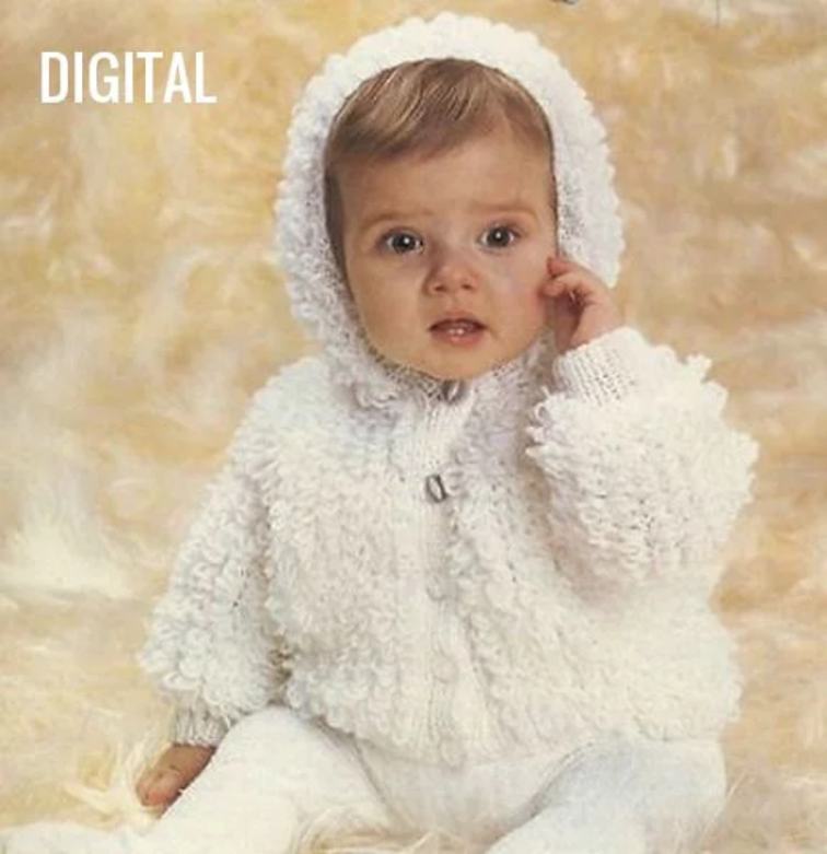 Baby Loopy Coat Cardigan Jacket With Hood 18 22 Dk Icky The Crafty