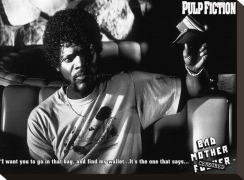 Pulp Fiction (Bad Mother F**Ker) Stretched Canvas Print - AllPosters.co.uk